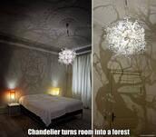 bag,light,house,chandelier,forest,lighting,halloween decor
