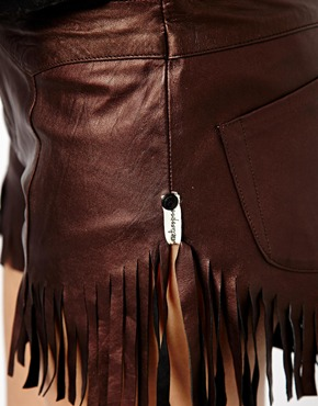 One Teaspoon | One Teaspoon Mariachi Morrison Shorts in Leather at ASOS