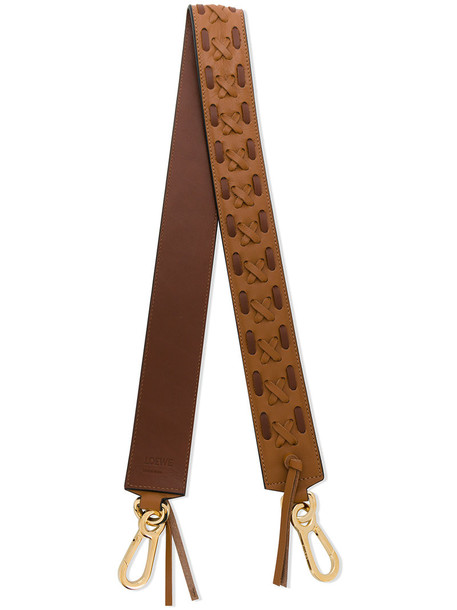 LOEWE cross women bag leather brown