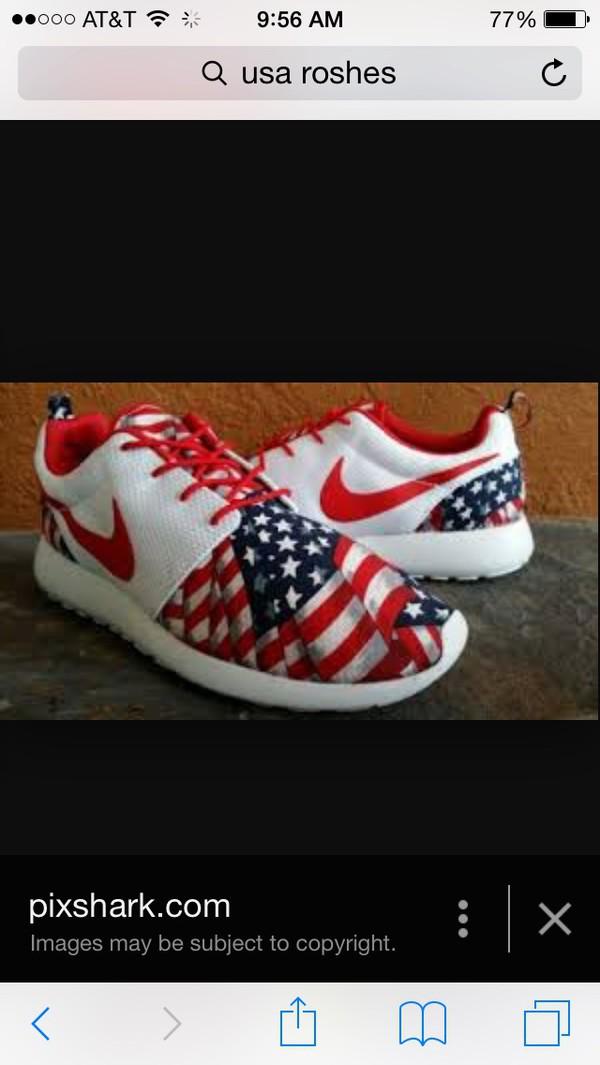 shoes roshe runs us flag