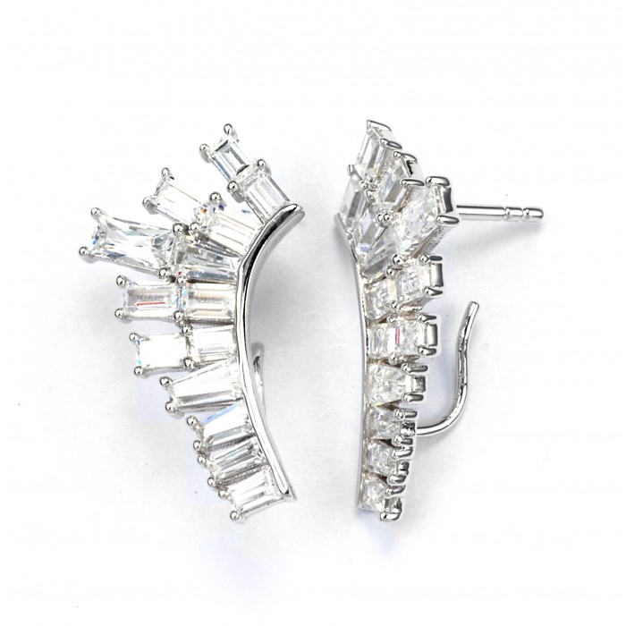 Deco Baguette lobe earrings