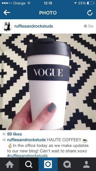 home accessory vouge fashion vougue cup coffee fashion tea mug mug travel mug