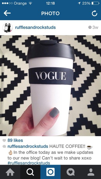 home accessory vouge fashion vougue cup coffee coffee coffee fashion tea mug mug travel mug