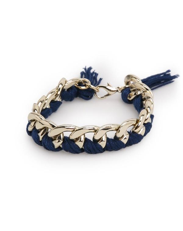 jewels gold gold jewelry bracelets chain chain bracelet gold bracelet mango.com mango marine blue cute