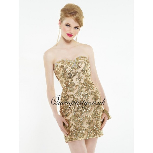 dress gold short dress short sweetheart dress homecoming dress gold sequins short golden dress short prom dress sweetheart dress short fitted
