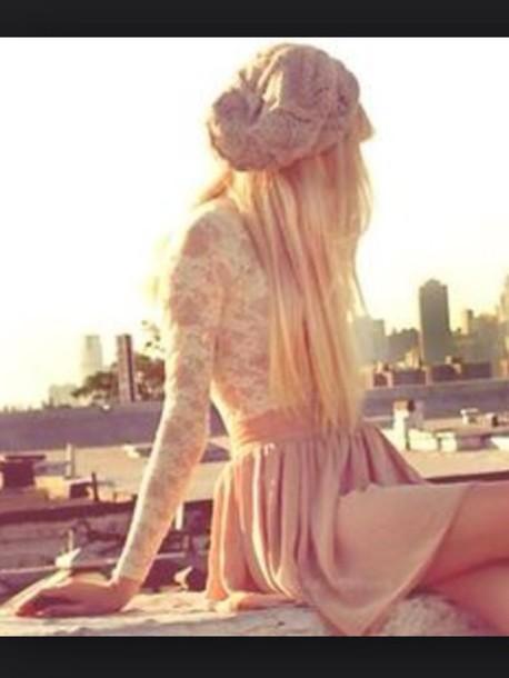 dress white pink dress