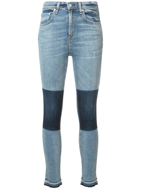 jeans skinny jeans cropped women cotton blue
