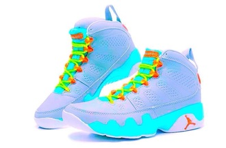 shoes jordans colorful white sneakers swag