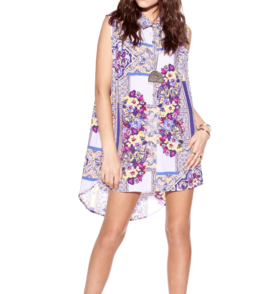 MINK PINK Distant Traveler Sleeveless Tunic Dress / TheFashionMRKT