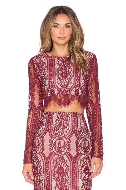 Stylestalker top burgundy