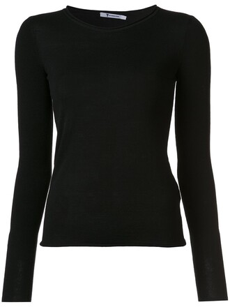 top knit black