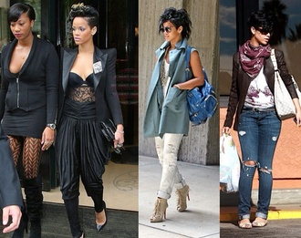 jeans leggings jacket rihanna