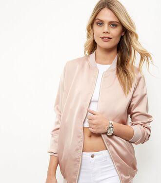 jacket bomber jacket blush pink