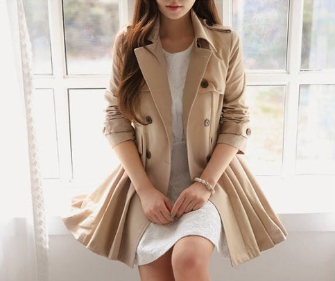 Trendy pleated trench coat jacket from doublelw on storenvy