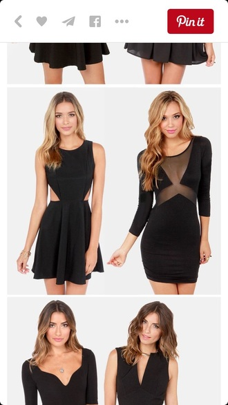 dress black dress mesh bodycon dress bodycon mini dress tight clubwear fashion style cut-out dress