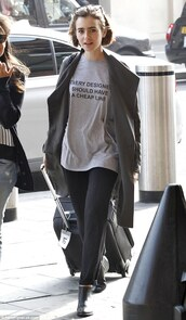 t-shirt,lily collins