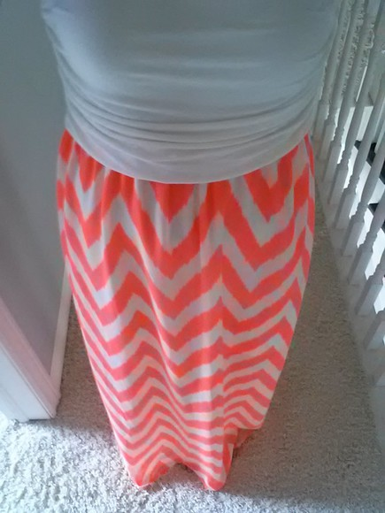 coral dress strapless dresses chevron printed white bandeau silhouette slip dress