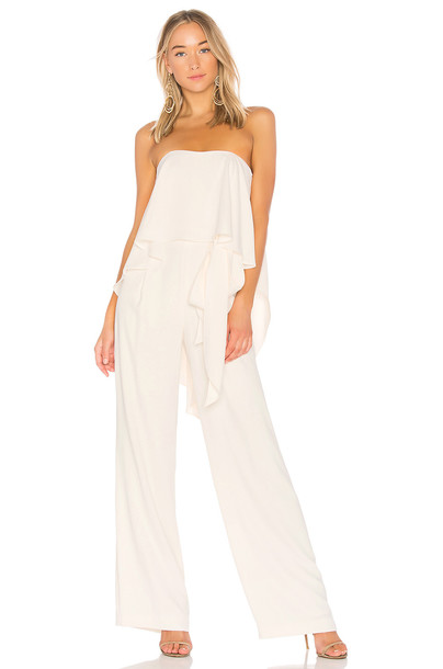 Strapless Jumpsuit With Flowy Back