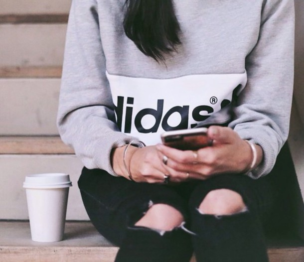 sweater adidas jeans