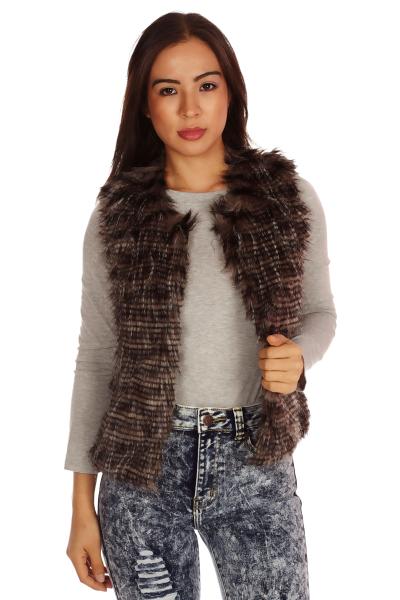 Tone faux fur vest