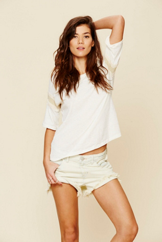 free people womens dolphin hem denim cut off