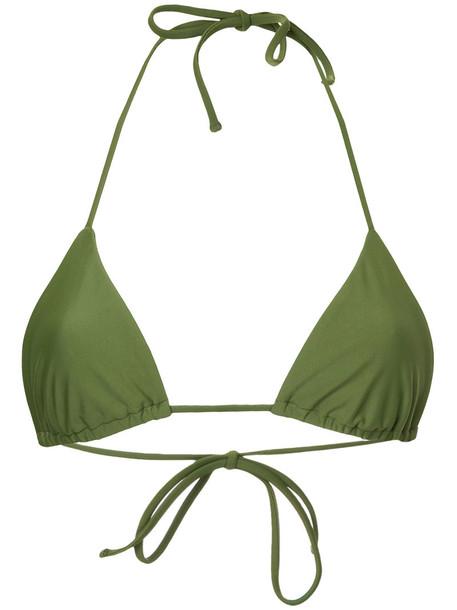 MATTEAU top triangle top triangle women spandex green