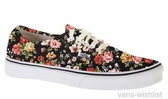 shoes flowers black vans