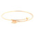 Wanderlust   Co - Arrow-Split Rose Gold Bangle