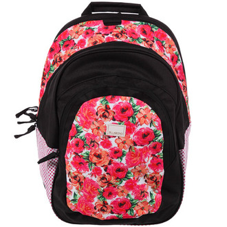 bag backpack billabong rose roses floral pink school school bag