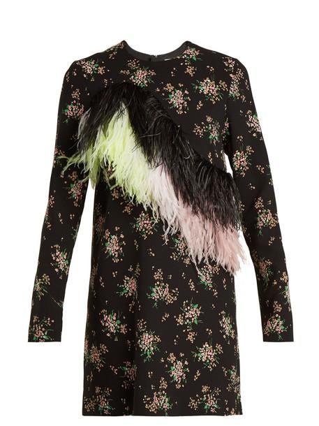 MSGM dress embellished floral print black
