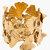 Aurélie Bidermann Gold Articulated Ginkgo Leaf Tangerine Cuff for women | SSENSE