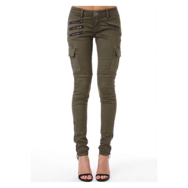 pants khaki pants olive green jeans zip cargo pants cargo pants pockets skinny pants