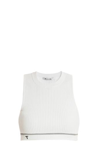 tank top top knit white