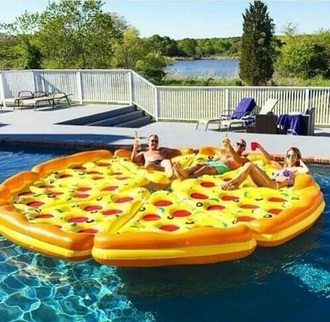 swimwear floating pizza inflatable pool accessory pool party pool friends