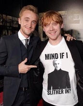 shirt,harry potter,draco,fab,yes plz,rupert grint,harry potter tank top,draco malfoy,t-shirt,top,movies,celebrity,celebrity style