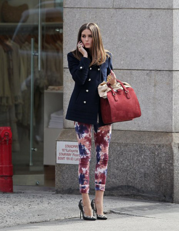 jacket olivia palermo navy bag pants
