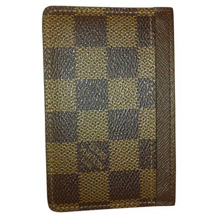 47ab1fc26e2 Porte-cartes Louis Vuitton SIMPLE Caramel Toile Cirée d occasion ...