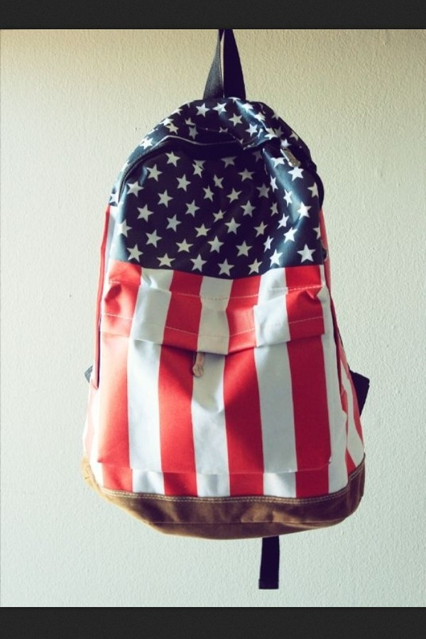 bag american flag american leather red white blue stars stripes