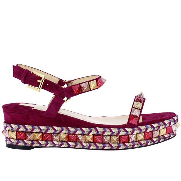 christian louboutin women shoes plum