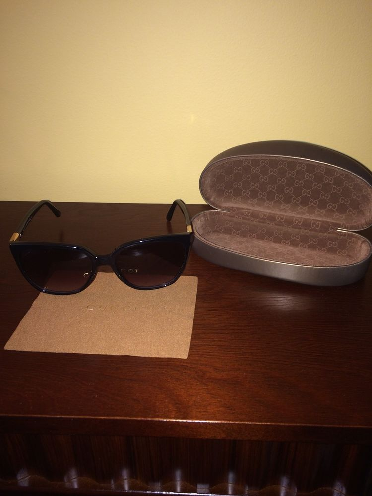 Gucci cat eye sunglasses 3502/s with gold accent