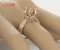 10mm round cut solid 14k rose gold natural diamond engagement semi mount ring