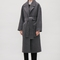 Oversized double-breasted coat - dark grey - coats & jackets - cos se