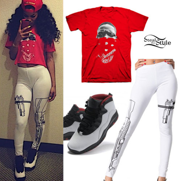 leggings teyana taylor blouse