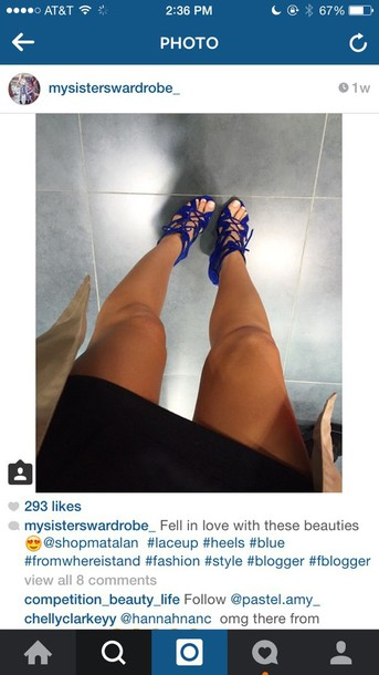 shoes blue high heels lace up heels