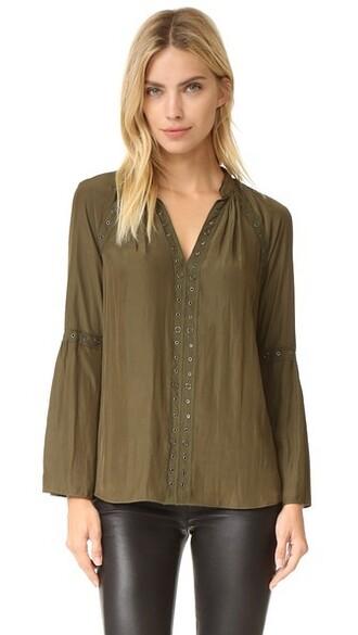 blouse urban green top