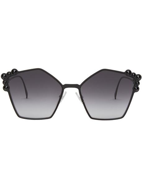 Fendi Eyewear metal women sunglasses black