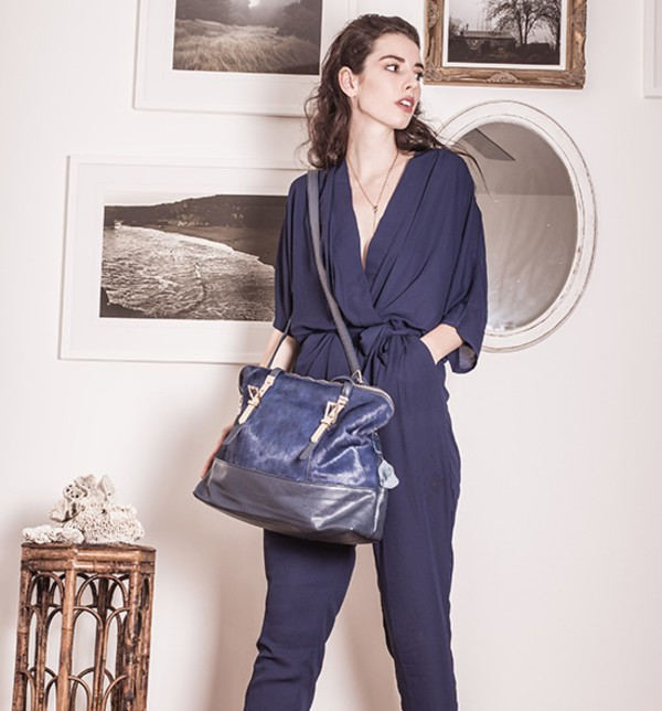 jumpsuit blue bag streetstyle stylemoi blue jumpsuit elegant outfit summer outfits