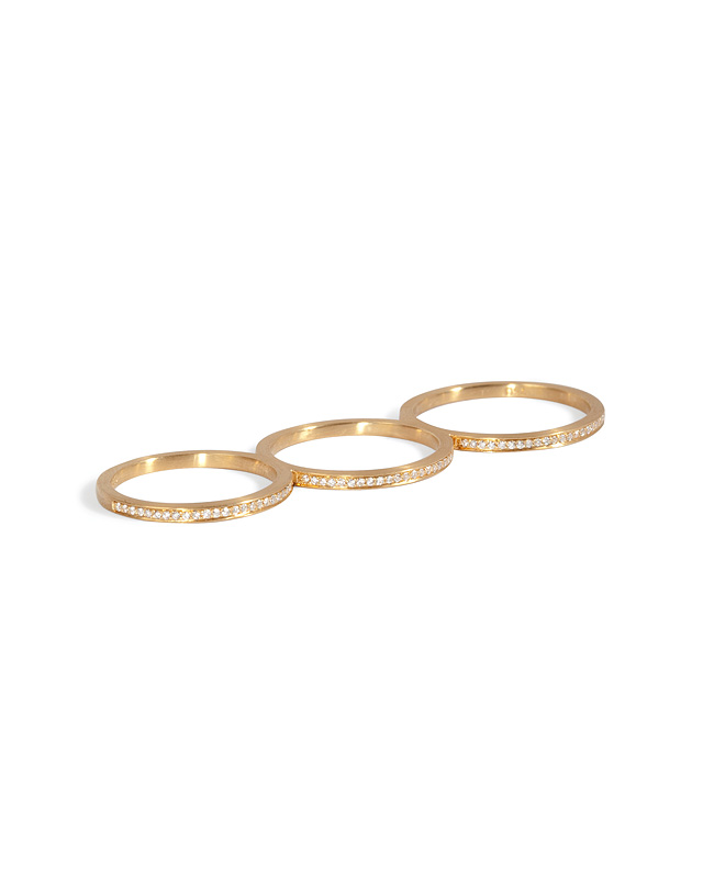 Sophie Bille Brahe - Gold/Diamond Rue de Diamant Triple Ring