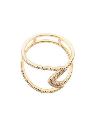 diamond ring women ring yellow aztec orange jewels