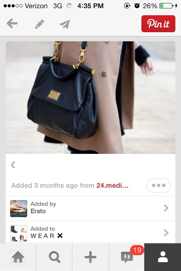 bag black mark jacobs leather long strap pinterest tumblr